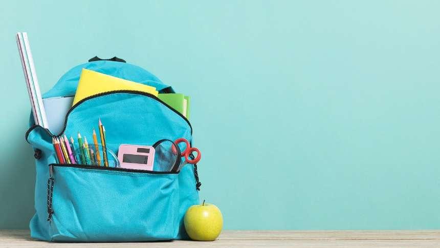 blue-schoolbag