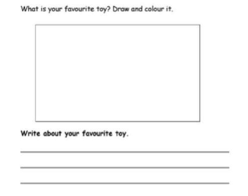 お気に入りのおもちゃ英語プリントfavorite-toys-worksheet