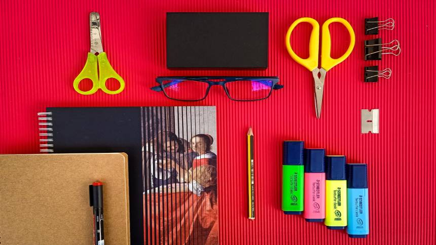 school-objects-on-a-table