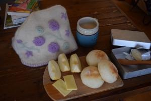 朝のリンゴ