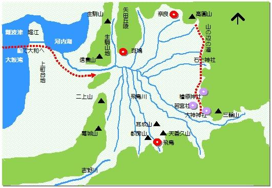 奈良盆地マップ