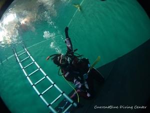 ダイビング器材の使い方,ドライスーツの使い方練習 (16)