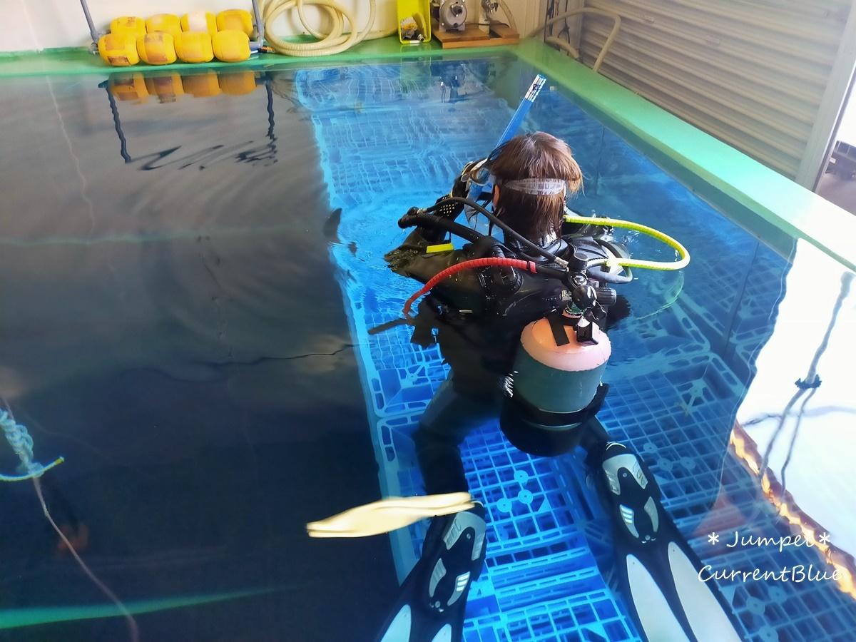 ダイビングプールでリフレッシュコース (2)