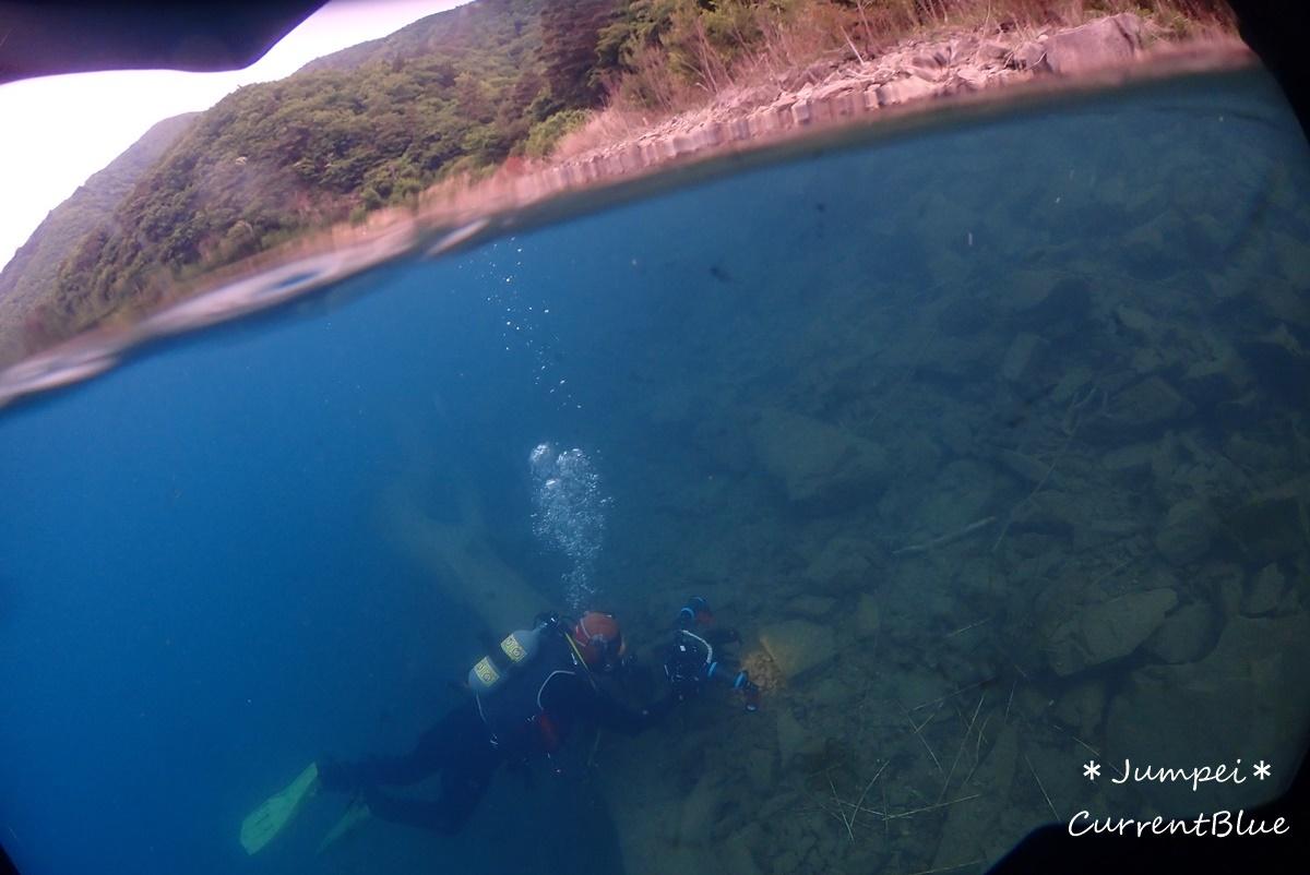本栖湖水中写真撮影 (3)
