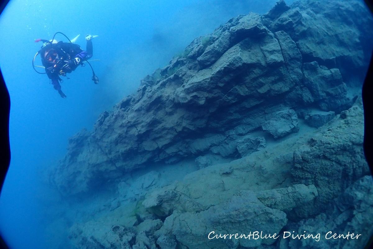4本栖湖溶岩ダイビング,溶岩流ポイント,本栖湖ダイビング (18)