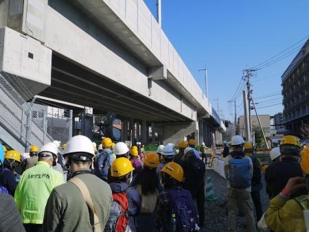 新幹線建設現場へ