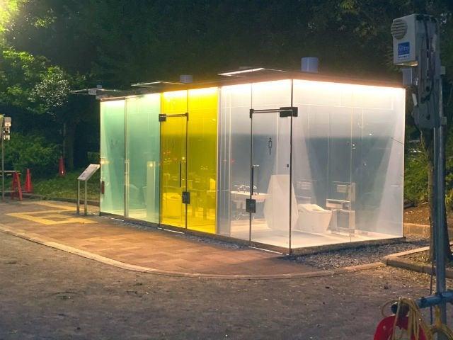 日本の透明トイレ_渋谷はるのおがわコミュニティパーク