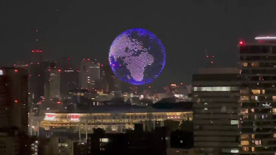 1824台ドローン東京オリンピック開幕式