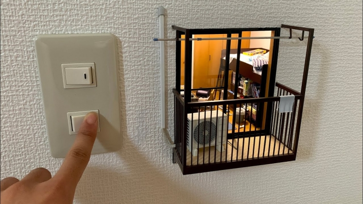 Mozu【ミニチュア】壁の中に小さな部屋を作ってみたら楽しすぎた