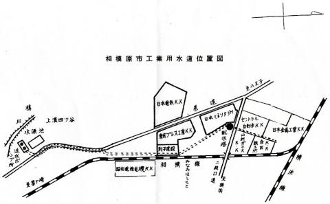 相模原市工業用水道位置図
