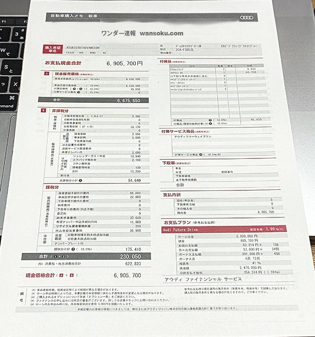 Audi A5 Sportback見積もりAdvance01