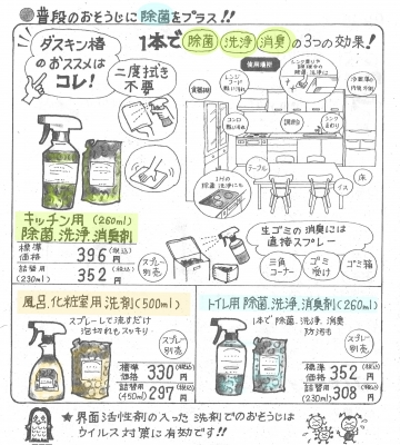 除菌効果のある洗剤