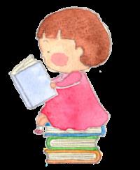 子ども本に座って本を読む2小