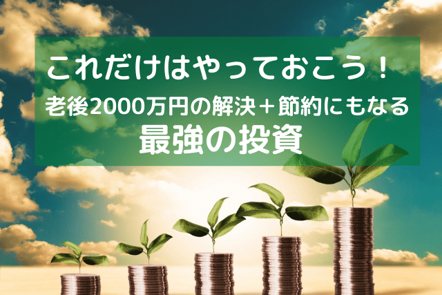 これだけはやっとけ! 老後2000万円問題を解決し 節約にもなる最強の投資-min