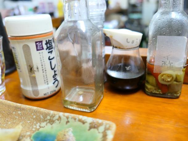 塩胡椒と特製オイル
