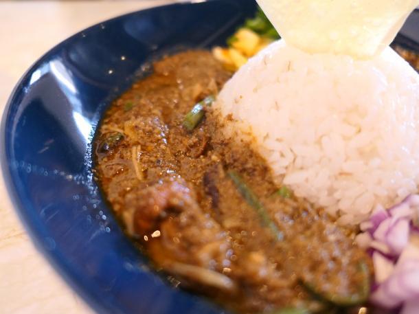 牛肉と山菜のキーマ