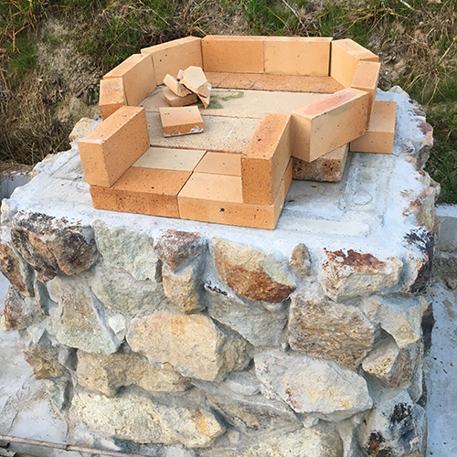 【DIY】畑にピザ窯とコンロを作る!④ ~いよいよピザ窯を作る~①
