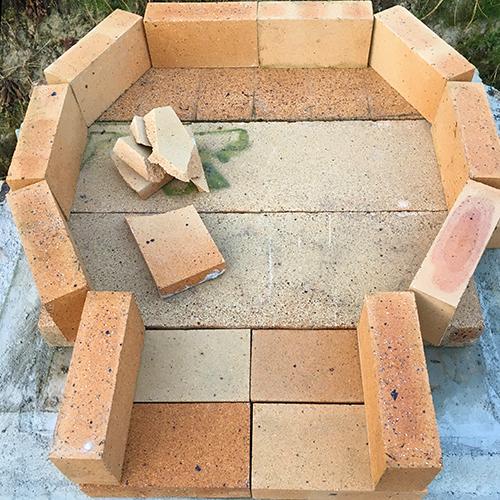 【DIY】畑にピザ窯とコンロを作る!④ ~いよいよピザ窯を作る~②