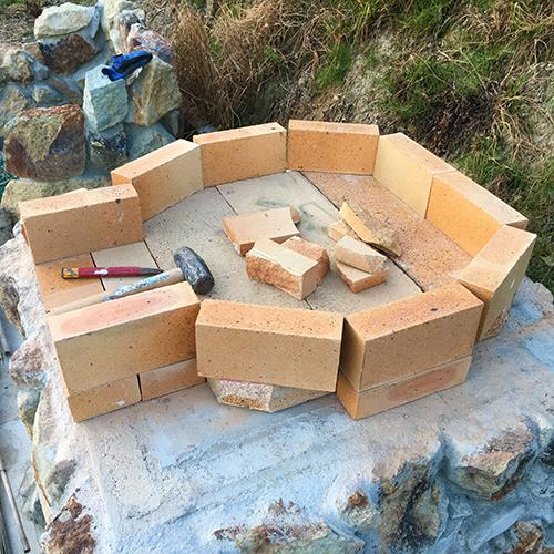 【DIY】畑にピザ窯とコンロを作る!④ ~いよいよピザ窯を作る~⑤