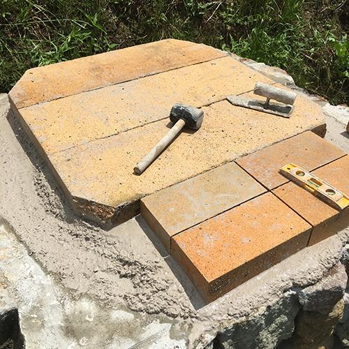 【DIY】畑にピザ窯とコンロを作る!④ ~いよいよピザ窯を作る~⑪