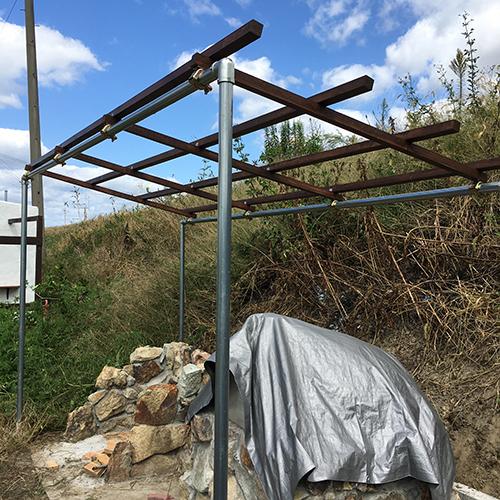 【DIY】畑にピザ窯とコンロを作る!⑥ ~ピザ窯には屋根が必要~⑥