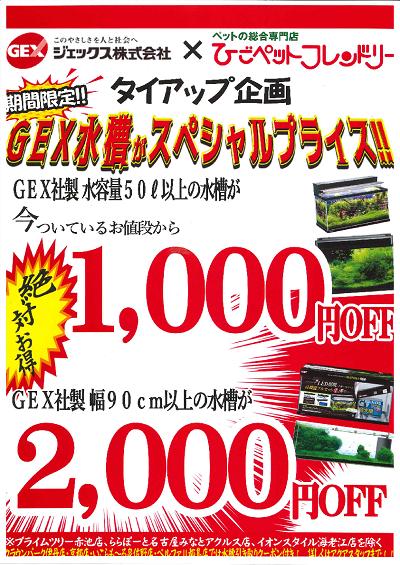 GEX水槽キャンペーン