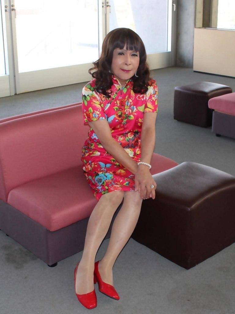 赤チャイナ服F体育館(6)