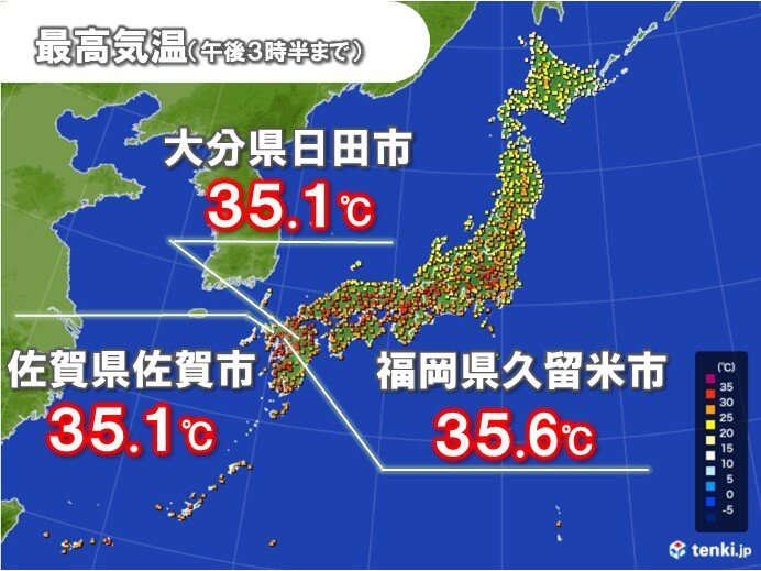 今日の最高気温