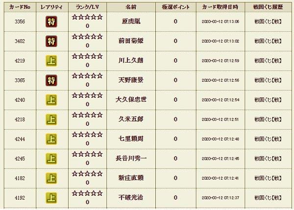 戦くじ4 履歴 (1)