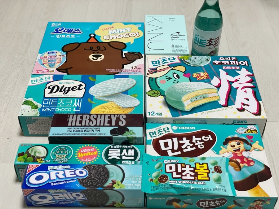 韓国お菓子_ミントチョコ_チョコミント_3