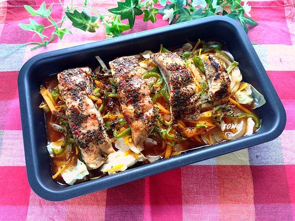 にんべん 鮭のチャンチャン焼2