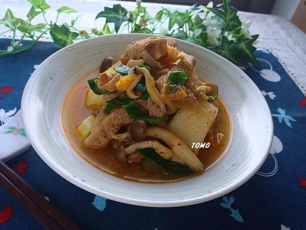 冬瓜と豚肉のキムチ煮