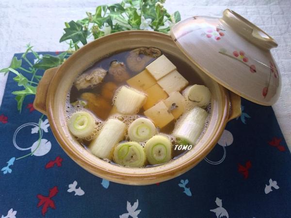 上州ねぎとサバ缶のネギま鍋風