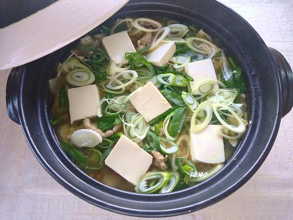 上州ねぎと豚肉のピリ辛ニンニク生姜鍋