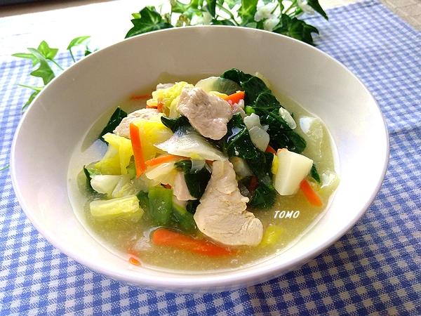 鶏むね肉と白菜の旨煮