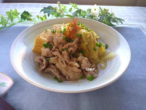 白菜と牛肉の韓国風煮物