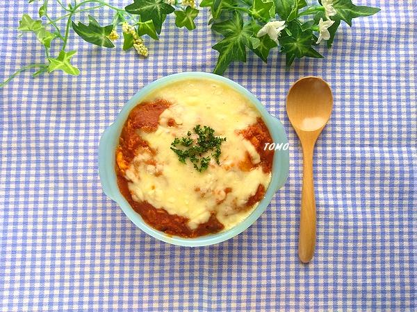 オートミールのトマト焼きカレー