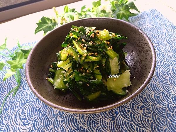 小松菜ときゅうりの塩こうじ和え1
