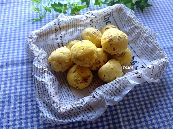 サラミのダブルチーズボール