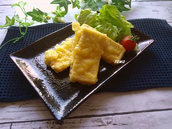 高野豆腐のとり天風天ぷら