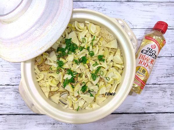 筍とツナ缶の炊き込みご飯