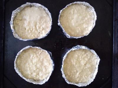 薄力粉とオートミールの卵サラダパン2
