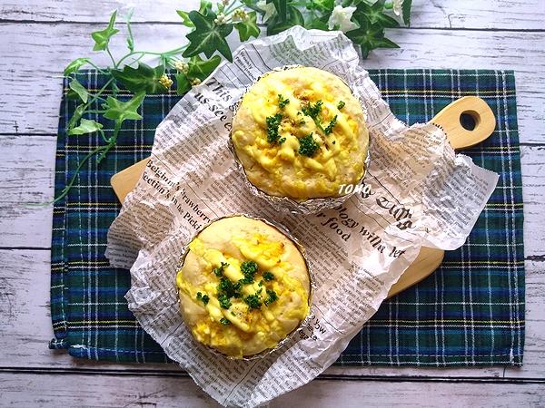 薄力粉とオートミールの卵サラダパン6