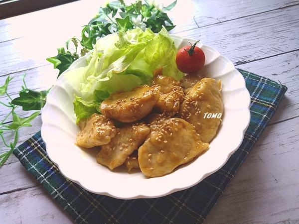 タカラ本みりんと料理酒で鶏むね肉の甘辛生姜炒め