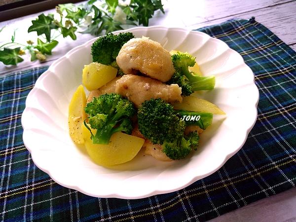 鶏むね肉とジャガイモのガーリック炒め
