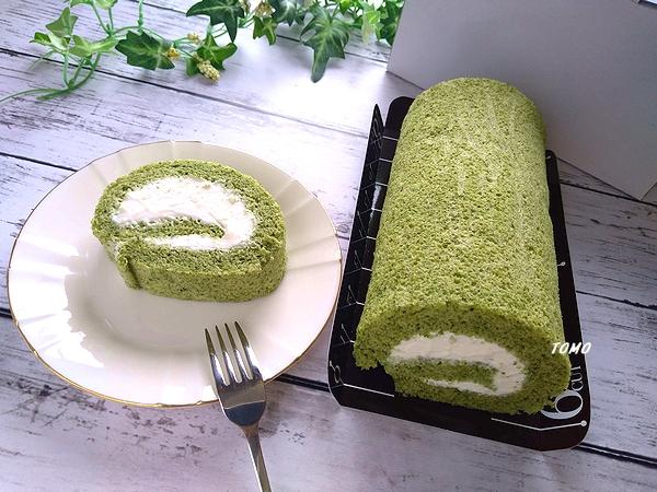 ほうれん草のシフォンロールケーキ