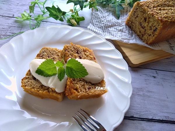 オートミールと小豆のノンノイルケーキ1