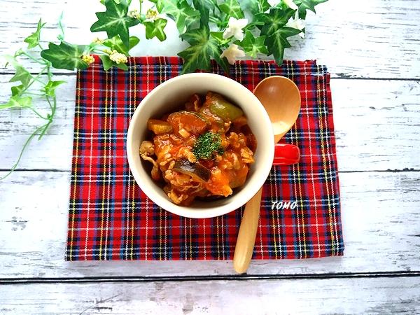 ズッキーニと豚肉のトマト煮