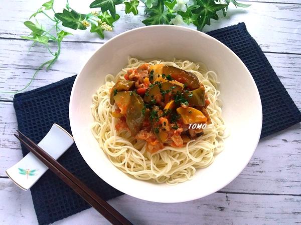 トマト煮素麺
