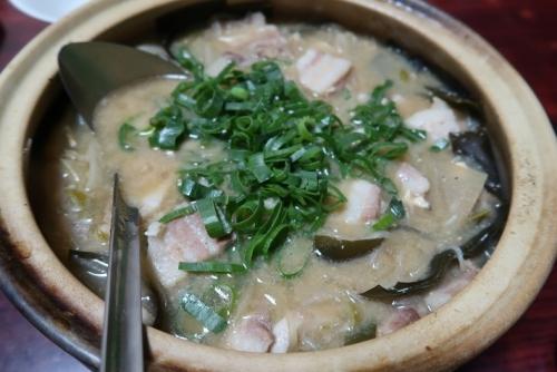 豚の味噌鍋